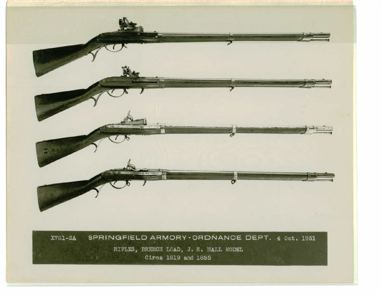 A collection of guns manufactured at Harper's Ferry